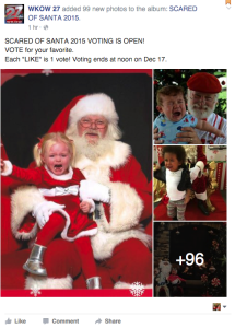 Great Idea from WKOW: We're all scared of Santa for these kids...