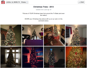 People love to see their name in lights, especially if it's showcasing their tree decked in lights!