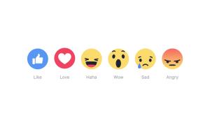 Facebook's New Reactions, Courtesy: Facebook