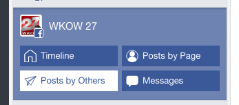 Open your Posts by Others feed to monitor Facebook results